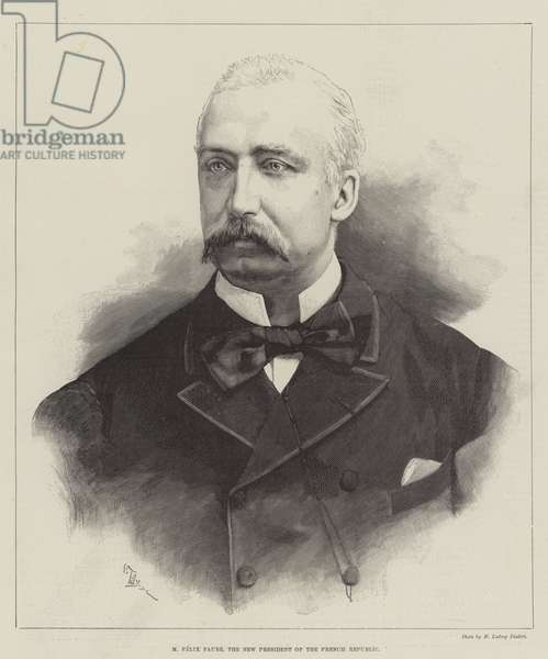 M Felix Faure, the New President of the French Republic (engraving)