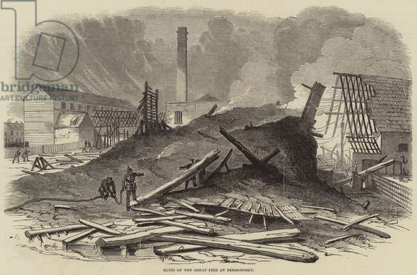 Ruins of the Great Fire at Bermondsey (engraving)