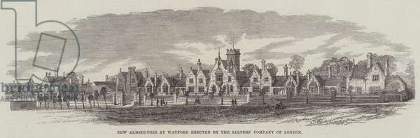 New Almhouses at Watford erected by the Salters' Company of London (engraving)