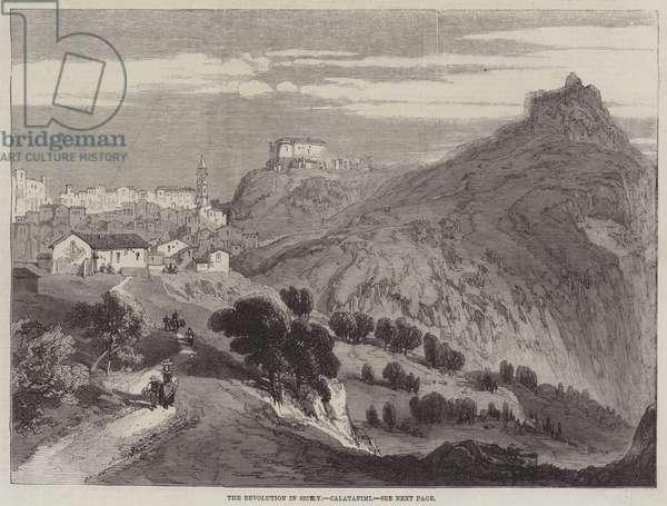 The Revolution in Sicily, Calatafimi (engraving)