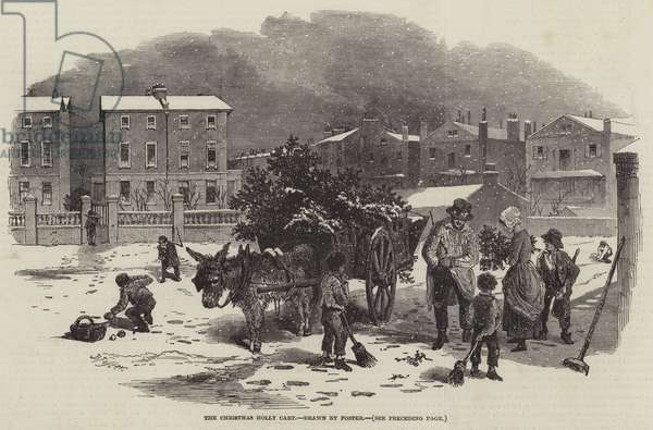 The Christmas Holly Cart (engraving)
