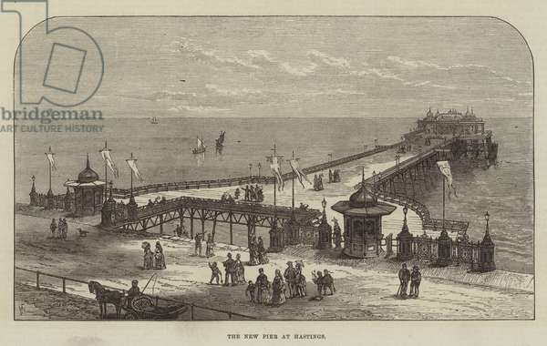 The New Pier at Hastings (engraving)