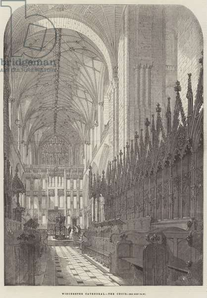 Winchester Cathedral, the Choir (engraving)