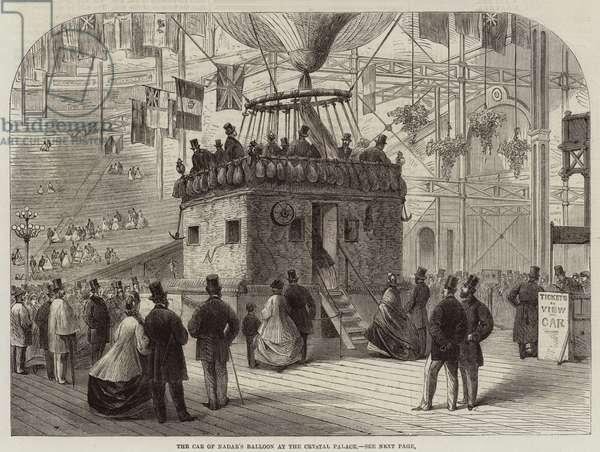 The Car of Nadar's Balloon at the Crystal Palace (engraving)