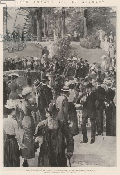 King Edward VII in Germany (litho)