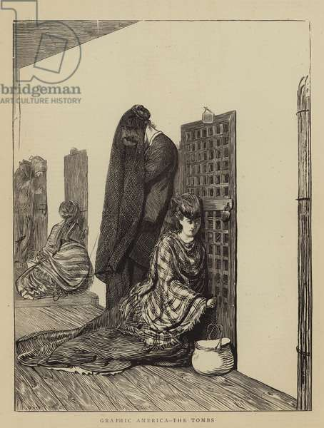 Graphic America, the Tombs (engraving)