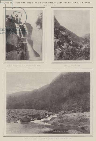 The Transvaal War, Scenes of the Boer Retreat along the Delagoa Bay Railway (engraving)