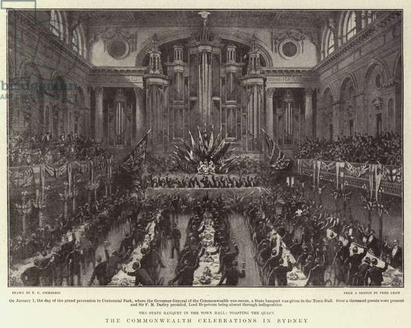 The Commonwealth Celebrations in Sydney (litho)