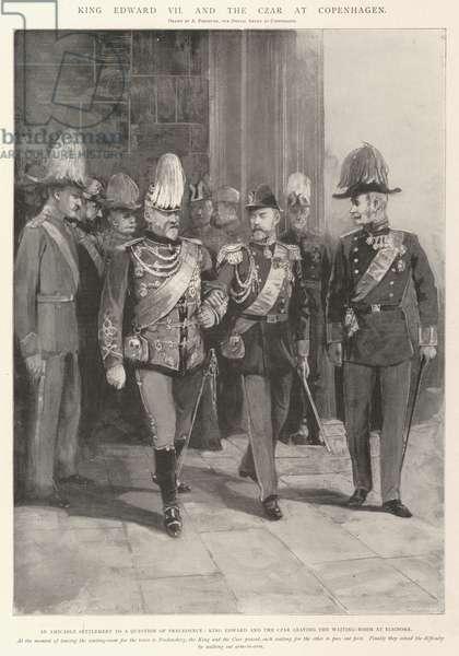 King Edward VII and the Czar at Copenhagen (litho)