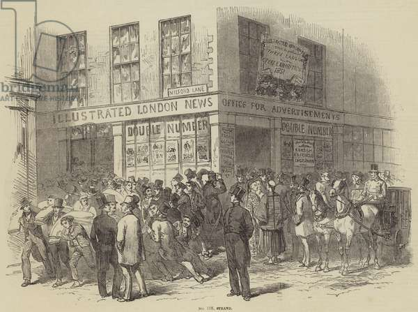 Illustrated London News Office, Number 198, Strand (engraving)