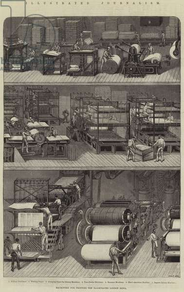 Illustrated Journalism, Machinery for Printing The Illustrated London News (engraving)