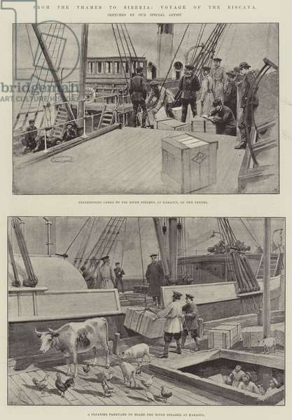 From the Thames to Siberia, Voyage of the Biscaya (litho)