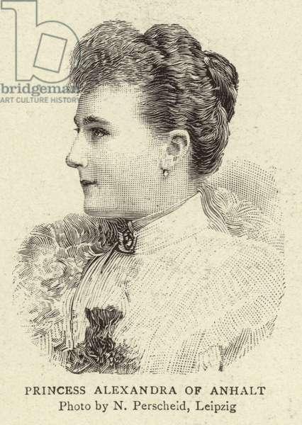 Princess Alexandra of Anhalt (engraving)