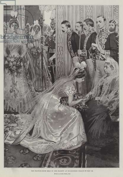 The Drawing-Room held by Her Majesty at Buckingham Palace on 16 May (litho)