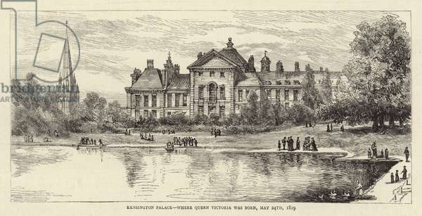 Kensington Palace, where Queen Victoria was Born, 24 May 1819 (litho)