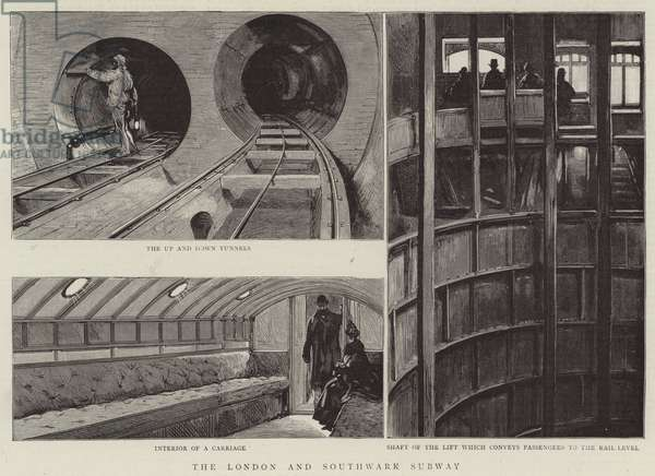The London and Southwark Subway (engraving)