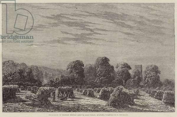 Exhibition of Modern British Art, a Corn-Field, Evening (engraving)
