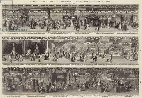 Grand Panorama of the Great Exhibition, South-East Portion of the Nave (engraving)