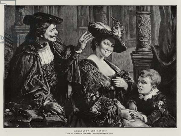 Rembrandt and Saskia (engraving)