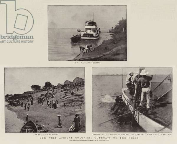Our West African Colonies, Gunboats on the Niger (b/w photo)