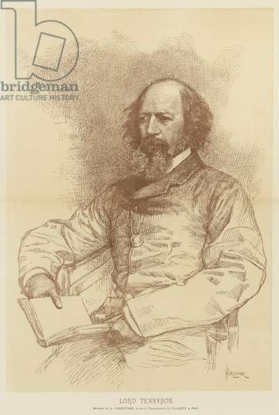 Lord Tennyson (litho)