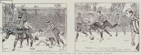 Association Football, the Final Cup Tie at the Crystal Palace (engraving)