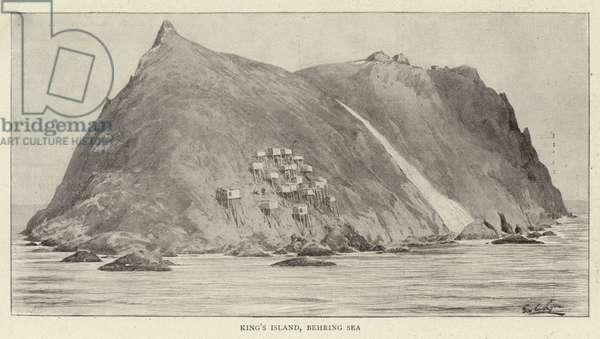 King's Island, Behring Sea (engraving)