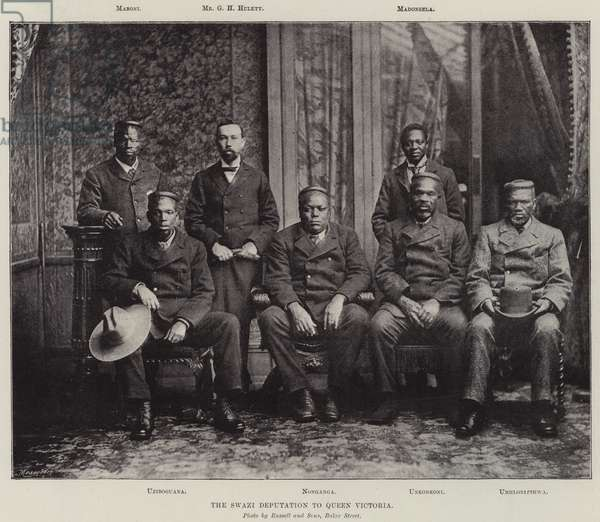 The Swazi Deputation to Queen Victoria (b/w photo)