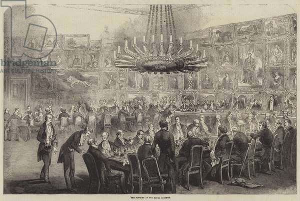 The Banquet at the Royal Academy (engraving)