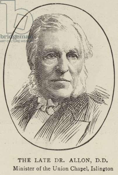 Reverend Henry Allon, DD (engraving)
