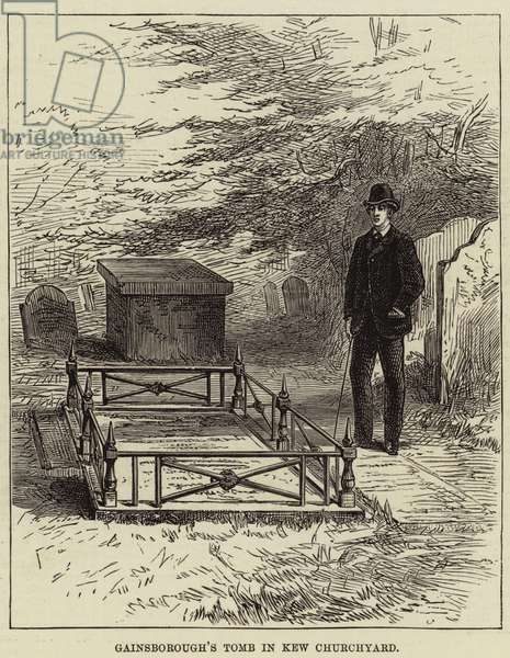Gainsborough's Tomb in Kew Churchyard (engraving)