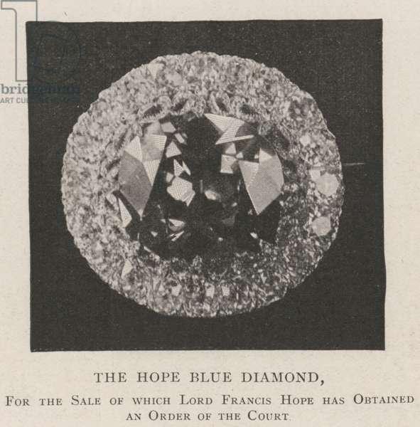 The Hope Blue Diamond (b/w photo)