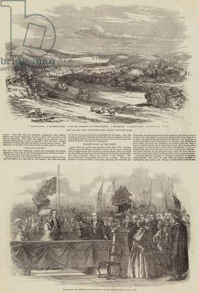 Queen Victoria in Cork (engraving)