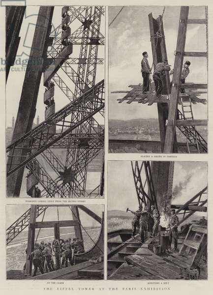 The Eiffel Tower at the Paris Exhibition (engraving)
