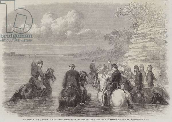"The Civil War in America, ""My Reconnaissance with General Sickles in the Potomac"" (engraving)"