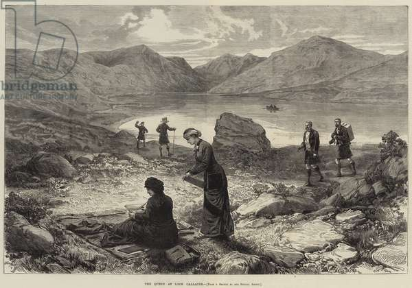 The Queen at Loch Callater (engraving)