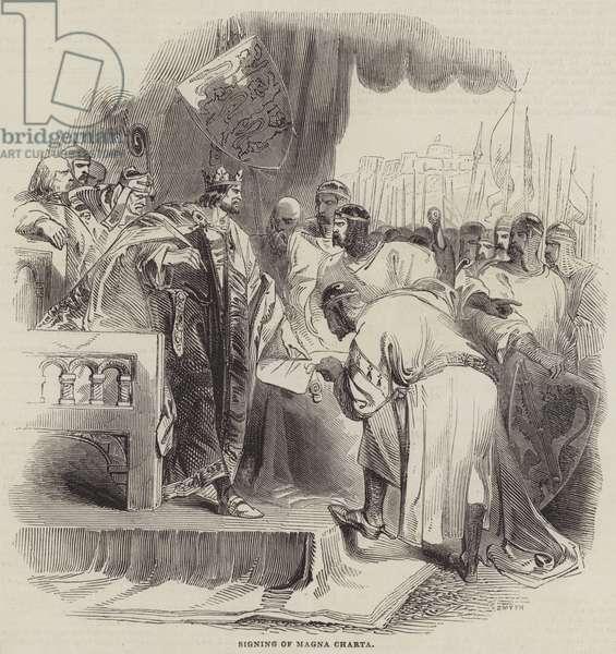 Signing of Magna Charta (engraving)