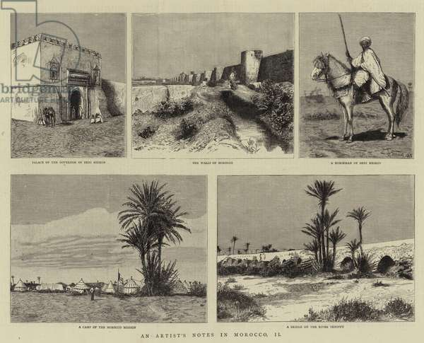 An Artist's Notes in Morocco, II (engraving)