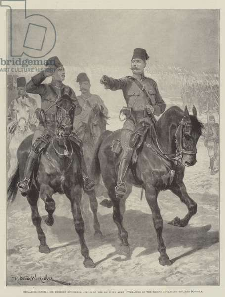 Brigadier-General Sir Herbert Kitchener, Sirdar of the Egyptian Army, Commander of the Troops advancing towards Dongola (litho)