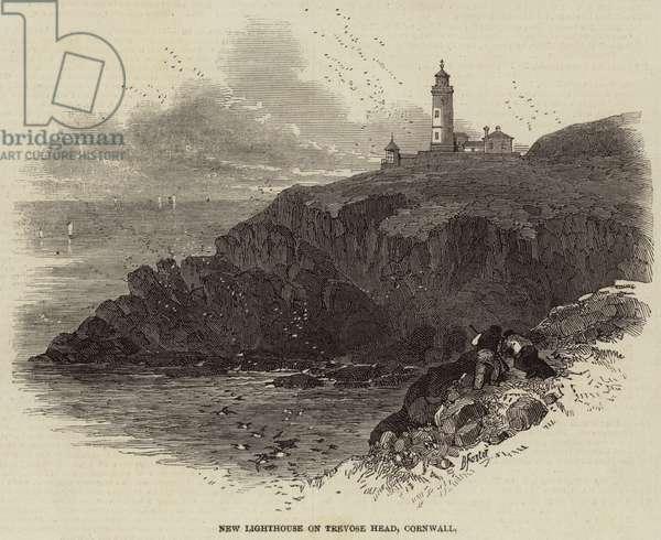 New Lighthouse on Trevose Head, Cornwall (engraving)