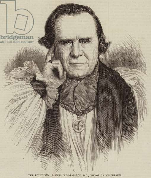 The Right Reverend Samuel Wilberforce, DD, Bishop of Winchester (engraving)