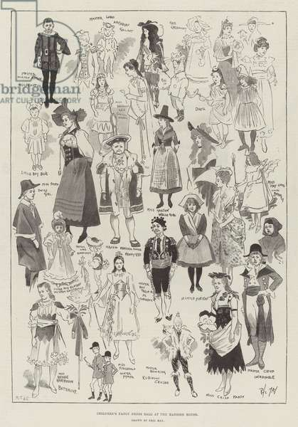 Children's Fancy Dress Ball at the Mansion House (engraving)