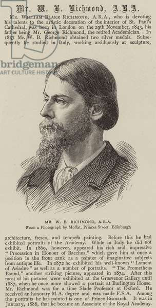 William Blake Richmond (engraving)