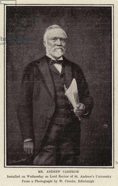 Mr Andrew Carnegie (b/w photo)