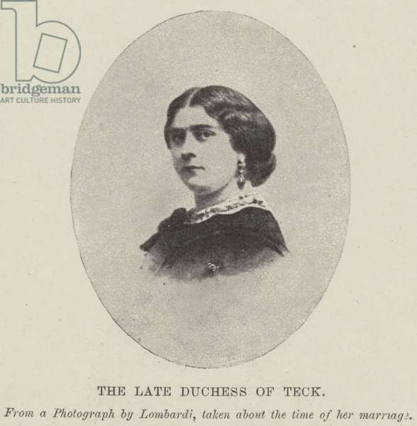 The late Duchess of Teck (b/w photo)