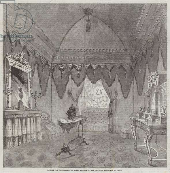 Boudoir for the Reception of Queen Victoria, at the Universal Exhibition, at Paris (engraving)