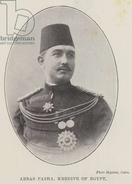 Abbas Pasha, Khedive of Egypt (b/w photo)
