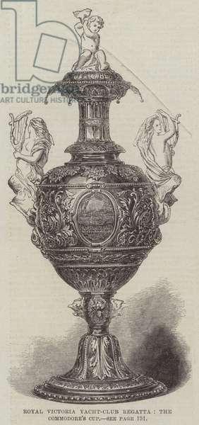 Royal Victoria Yacht-Club Regatta, the Commodore's Cup (engraving)