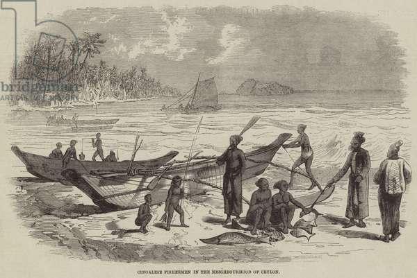 Cingalese Fishermen in the Neighbourhood of Ceylon (engraving)