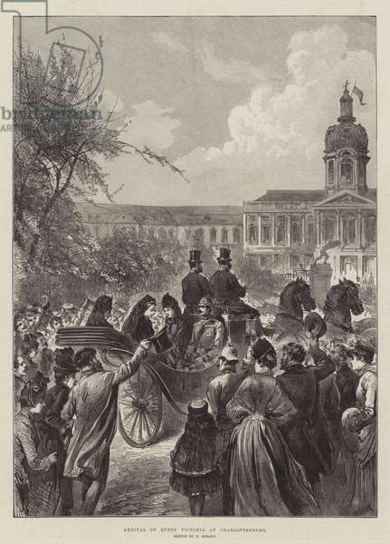 Arrival of Queen Victoria at Charlottenburg (engraving)